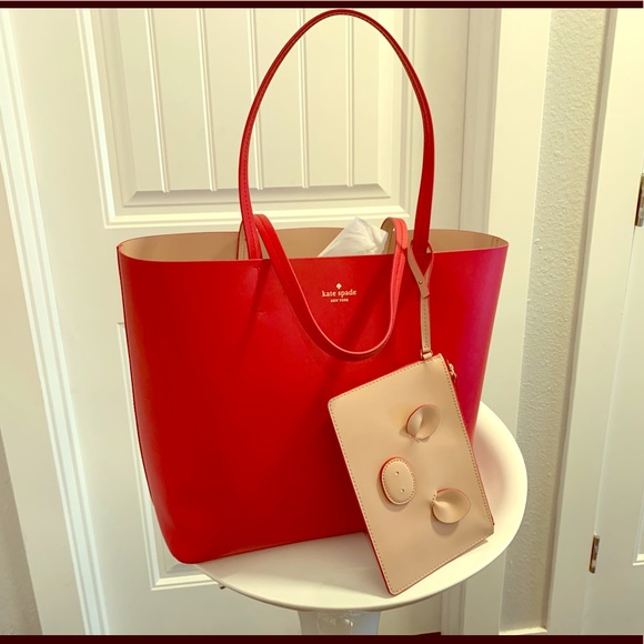 0ce593081a9 Kate ♠️ special edition year of the pig Red tote